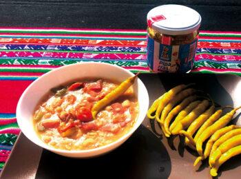 Platito de legumbres con piparras Toreras
